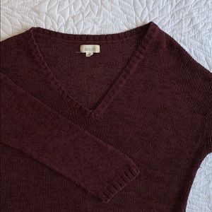 aerie Maroon cropped sweater
